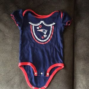 New England Patriots blue and red onesie